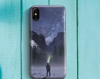Night Mountain Adventurer Phone case iPhone 8 Case iPhone 8 PLUS Case iPhone X Case iPhone 10 Case iPhone 7 Case iPhone 7 plus Case Gift