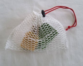Exfoliating bar SOAP pouch
