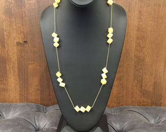 3 Pc. Citrene & Gold Long Necklace