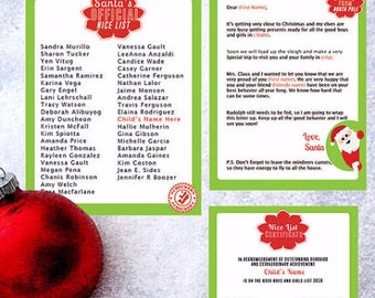 letter from santa, Santa letter, santa claus letter,  Santa list, Santa's List, Santa's nice list, Nice List, North Pole package,  Printable