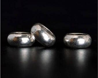 100pcs-Tibetan style tibetan silver spacer beads,5/6/7mm,round beads,alloy counter beads,Jewelry accessories Y0543