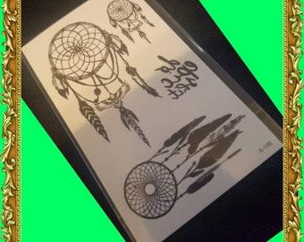 Temporary Dreamcatcher Mandala Tattoo Set