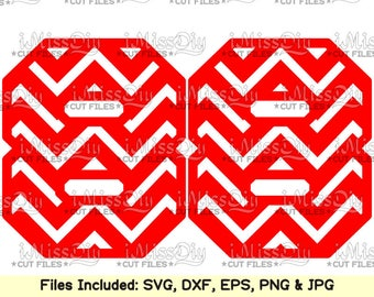 Chevron Numbers Svg files for Cricut Silhouette NUMBER Svg CUTTING FILES bithday wedding card patterns Sign design clipart Eps Dxf cut files