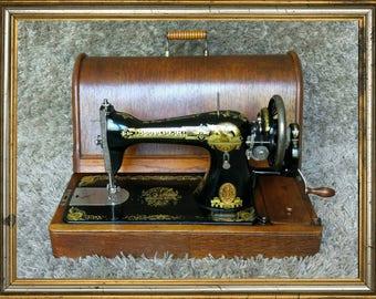 Singer 15K | Antique Sewing Machine | UK 1917 | Macchina da Cucire | Maquina de Coser | Machine a Coudre | Hand Crank| FREE Shipping*