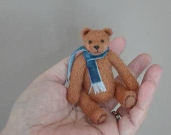 Daniel - OOAK, artist bear, miniature bear, vintage bear, dollhouse bear, tiny bear, art bear, teddy bear, Blythe
