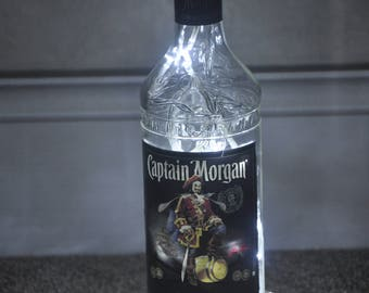Recycled Captain Morgan Rum Bottle Lamp (Mains Powered)