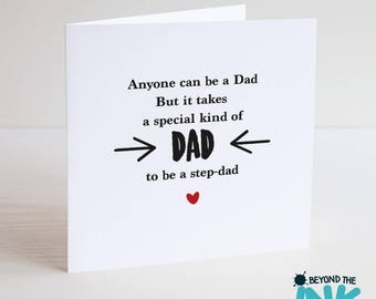 Cute Step Dad Father's Day Card - Special Kind Of Dad - Card For Step Dad