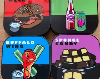 Buffalo Food Coasters