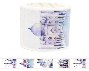 Travel Edition for Scrapbook - India Watercolor Painting Washi Tape