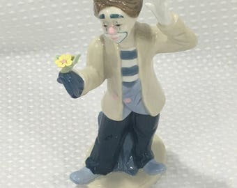 Vintage 1993 Paul Sebastian Desako Porcelain Clown Magician Figurine PS Lladro Inspired - FREE SHIPPING!