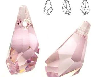 Swarovski Elements, Polygon Drop 17mm Light Amethyst, Swarovski Polygon, Swarovski drop, Amethyst crystal, Swarovski crystal, purple crystal