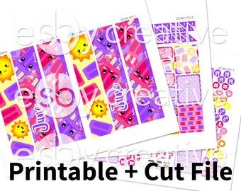 Sale - 25% Off! June 2017 Monthly Kit - Erin Condren Monthly View Sticker Kit Printable - ECMK-001 - INSTANT DOWNLOAD