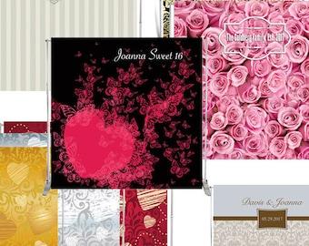 Custom Vinyl Backdrop 8x8' PRINT, Wedding backdrop, Party 8x8' banner