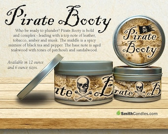 Pirate Booty Handmade Soy Candles