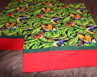 Birds of Paradise Pillowcase Set