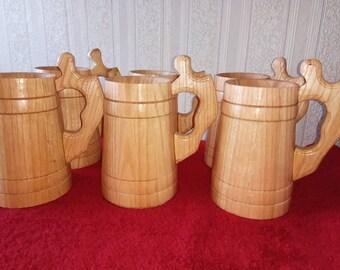 Wooden tankard wooden beer stein wooden beer mug wooden beer cup oak mug boi tankard wood tankard Oak wooden Beer mug beer stein accessories