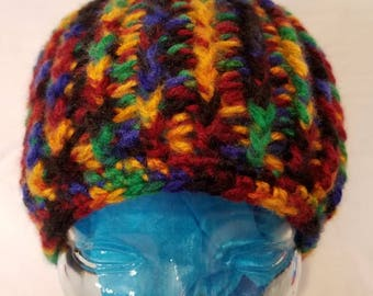 Variegated Colored Beanie.
