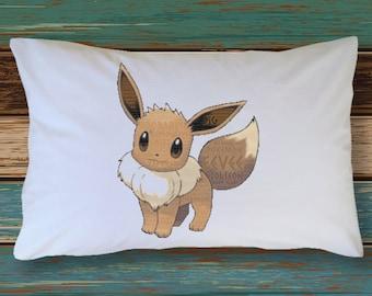 Set of 2 EEVEE Pokemon PillowCase Decoration Extra Soft & Cute Decor Bedding Pokemon Go Plush Figure Jolteon Espeon Glaceon Vaporeon Sylveon