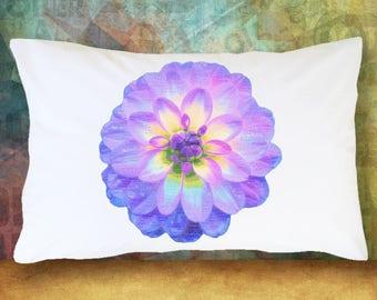 FRIENDSHIP FLOWER MUM Gerbera Daisy Pillow Case Red & Purple Gift Decoration Room Decor Bedding Microfiber Soft Pillowcase  Best Friend Gift