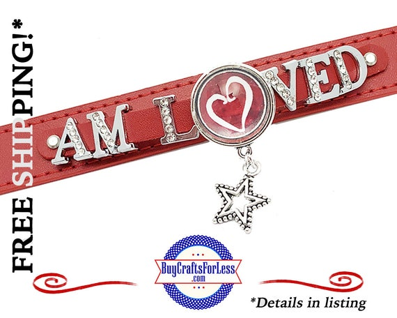 I AM LOVED - LEaTHER SLiDER CHaRM BRaCELET, Gift Box Avail.- Best Seller +FREE SHiPPiNG & Discounts*