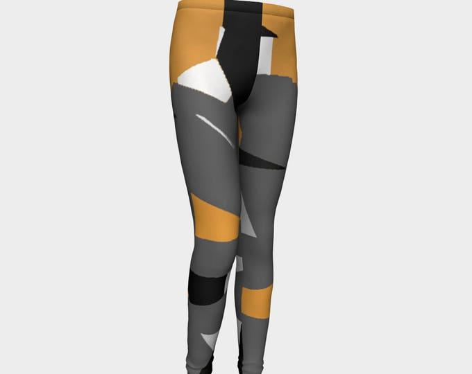 Girls Leggings, Tiger Stripes Leggings, Girls Yoga Leggings, Leggings, Girls Clothes, Dance Leggings, Girls Yoga Pants, Gift for Girl