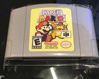 Paper Mario Nintendo 64 Game USA Seller Fast Free Shipping USPS REPRO