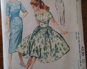McCall's 4530  1958 Teen and junior dress  size 12  UNCUT