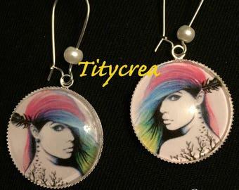 Tattoos women earrings