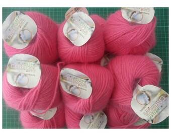 Adriafil YARN LOT 1202-Caress-Angora (15 balls)