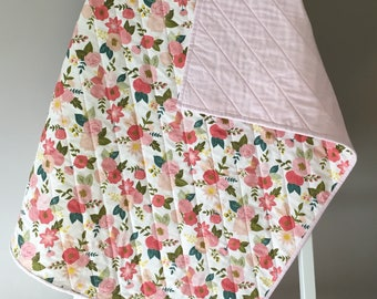 Homemade Quilt; Baby Quilt; Baby Girl Quilt