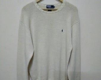 Polo by Ralph Lauren Knit Sweater Jumper Pullover Knit Shirt Knitwear