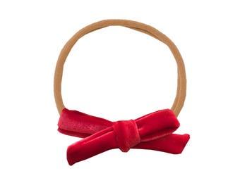 Schoolgirl Velvet Bow or Pigtail Set /// Rosie