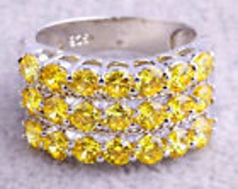 size 7 Citrine and silver party ring