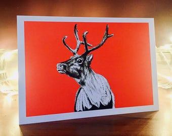 Reindeer A5 card blank