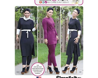 Simplicity 1019 - Knit Tunic and Pintuck Pants Pattern