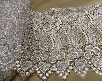 27 cm wide white guipure lace quality