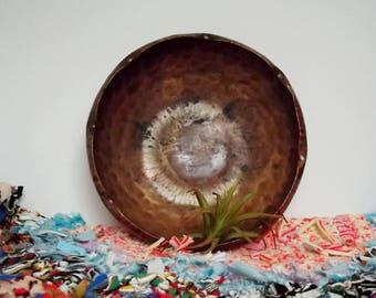 Handmade Vintage Hammered Copper Bowl/Signed Gregorian Copper 305