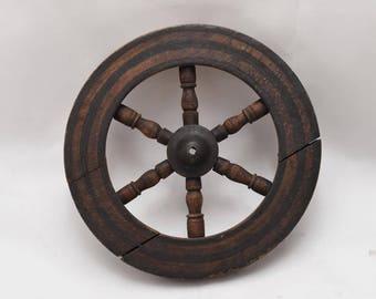 antique wooden wheel - Country decor - Wooden wheel - old decor Wooden wheel - Rustic decor - Wall hanging decor * Free Shipping