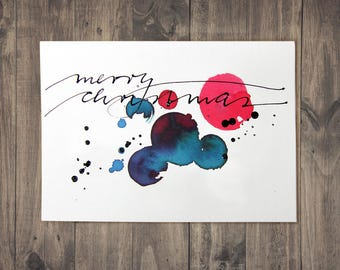 Christmas card – hand-written unique