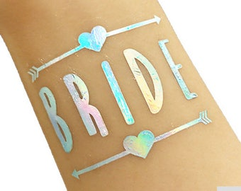 Bride Tattoo – Bridal Shower - Bachelorette Tattoo - Hen Tattoo - Party Favours - Favors - Bachelorette Bags - Gift for Bride