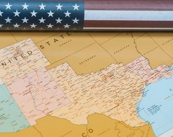 Travel Map Etsy - United states travel map