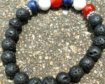 Fourth of July Diffuser Bracelet