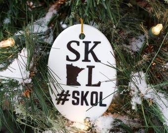 Minnesota Christmas Ornament, Personalized Minnesota Football Ornament, SKOL, SKOL Vikings, Minnesota Vikings, Minnesota Ornament, Sota