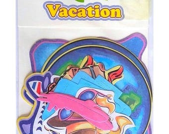Pack of 18 cuts - Die-cuts cutouts vacation scrapbooking creative cardmaking