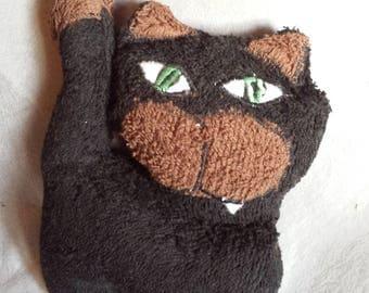 Cuddly little cat 20 x 15 cm fabric sponge