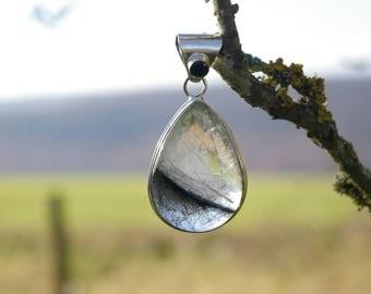 Quartz Tourmaline 925 Sterling Silver Pendant