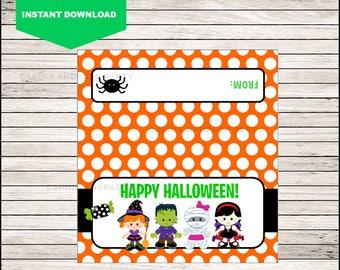 Happy Halloween Bag Toppers - Halloween Birthday Bag Toppers - Halloween Bag Labels - Halloween Treat Bags - Halloween Treat tags