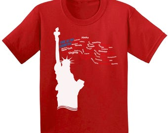 USA This Is My Country Kids T Shirts Shirts Tees USA Youth Tops Indepencence Day  Patriotic