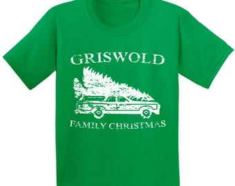 Griswold Christmas Tshirts for Kids Griswold Family Christmas Shirts Funny Kid's Christmas Holiday Shirt Gifts for Kids Kid's Xmas Shirts