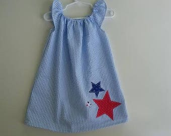 Order by 6/27! Fourth of July Peasant Dress Baby Toddler Girls